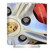 Red Boxter S Caliper Shower Curtain