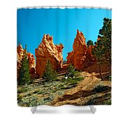 Red Canyon Trail Shower Curtain