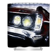 Red Car Shower Curtain