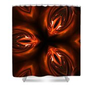 Red Caviar Shower Curtain