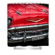 Red Chevvy Shower Curtain
