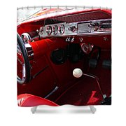 Red Chevy Impala Shower Curtain