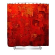 Red City 2 Shower Curtain