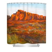 Red Cliffs Shower Curtain by Jack Skinner