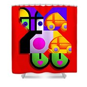 Red Collage Shower Curtain
