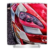Red Corvette Shower Curtain by Lauri Novak