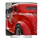 Red Coupe Shower Curtain