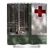 Red Cross. Belgrade. Serbia Shower Curtain