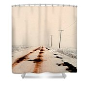 Red Dirt Snow Shower Curtain