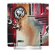 Red Divinity By Madart Shower Curtain