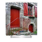 Red Door In Laroche Bernard Shower Curtain