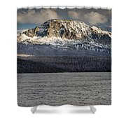 Red Eagle Mountain Evening Shower Curtain