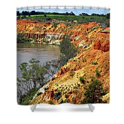 Red Eroded Soil Shower Curtain