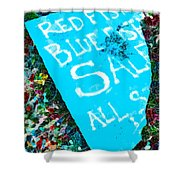 Red Fish Blue Fish Sale Shower Curtain