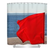 Red Flag Shower Curtain