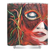 Red Flare Shower Curtain