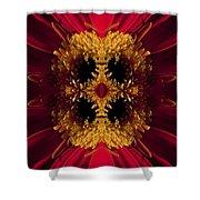 Red Flower Art Shower Curtain