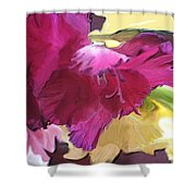 Red Flower In The Abstract Shower Curtain