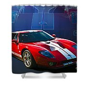 Red Ford Gt40 Shower Curtain