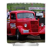 Red Ford Pickup Shower Curtain