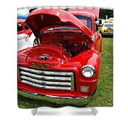 Red Gmc Shower Curtain