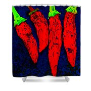 Red Hot Chili Shower Curtain