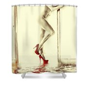 Red Hot Fire And Flood Shower Curtain