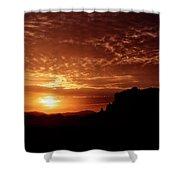 Red Hot Sunrise  Shower Curtain