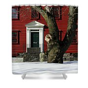 Red House And Snow Shower Curtain