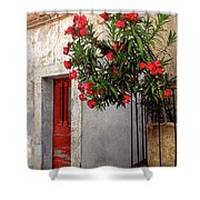Red In Provence Shower Curtain