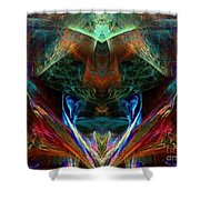 Red Indian Shower Curtain