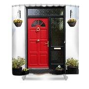 Red Irish Door Shower Curtain