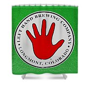 Red Left Hand Shower Curtain