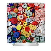 Red Lips Button Shower Curtain