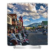 Red  Lodge Motorcycle Rally Shower Curtain