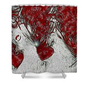 Red Love Shower Curtain