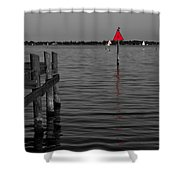 Red Marker 6 Shower Curtain
