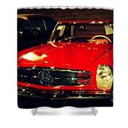 Red Mercedes Sl Shower Curtain