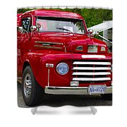 Red Mercury Shower Curtain