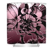 Red Metallic Dahlia Named Who Dun It Shower Curtain