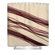 Red Nylon Fibers Shower Curtain