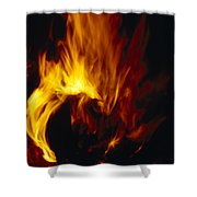 Red, Orange And Yellow Flickering Shower Curtain