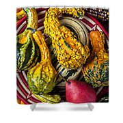 Red Pear And Gourds Shower Curtain