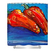 Red Pears Shower Curtain