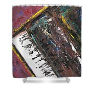 Red Piano Series 7 Shower Curtain
