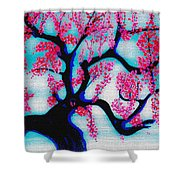 Red Plum Chinese Style Shower Curtain