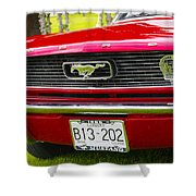 Red Pony Car Shower Curtain