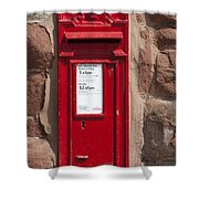 Red Postbox Shower Curtain