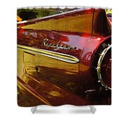 Red Ranchero And Round Taillight Shower Curtain