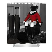 Red Riding Jacket Shower Curtain